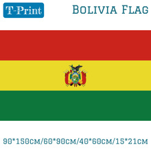 90*150cm/60*90cm Bolivia Flag High Quality Brass Buckle 40*60cm/15*21cm For World Cup / National Day Olympic Games