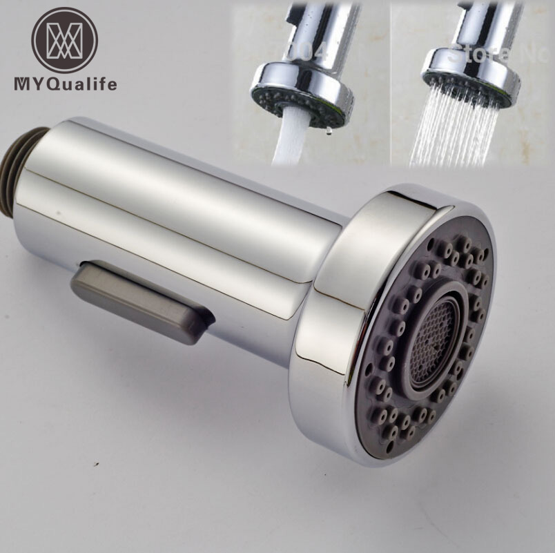 Free Shipping Dual Functions Kitchen Sprayer Head Chrome Finished Replace Spout for Kitchen Faucet