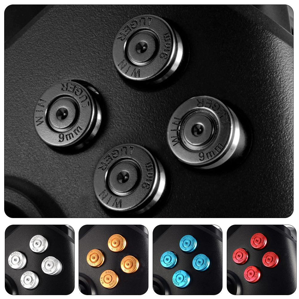 Fashion Metal Aluminum ABXY Buttons Kits Replacement Parts for Xbox One Game Controller image