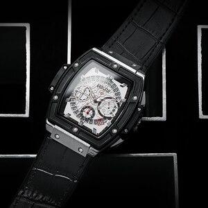 Image 4 - BAOGELA Marke Mode Herren Sport Wasserdicht Kalender Armbanduhr Square Multifunktions Silikon Band Herren Uhr