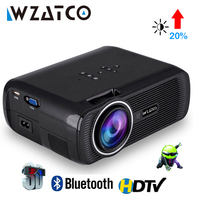 WZATCO CTL80 Android 6 Wifi Smart Portable Mini LED 3D TV Projector Support Full HD 1080p 4K Video Home Theater Beamer Proyector