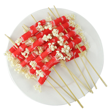 050 Simulation of food gourmet  dish dishes model barbecued hand fried mushrooms beef string Flammulina velutipes