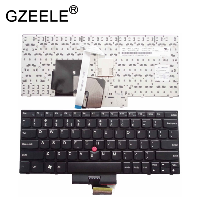 GZEELE New for Lenovo for Thinkpad for IBM E220 E130 E135 X121 X130 X131 X121E X130E E120 X131e X140e English laptop keyboard US new for lenovo ibm thinkpad p70 p70s series english us laptop keyboard