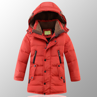 Children's Winter Jackets Boys 2018 Kids Winter Jacket for Boy Clothes Long Parka Big Teenage Boys Clothing Size 8 10 12 14 Year