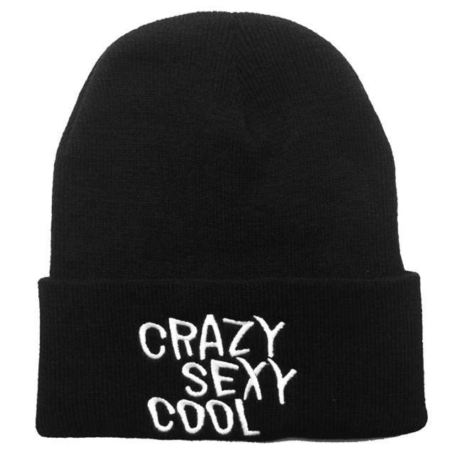 2016 Hot Sale Black Colors crazy sexy cool Wool knitted hip-hop Hat , Autumn winter Beanie hats for women men Free shipping rwby letter hot sale wool beanie female winter hat men