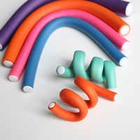 10 teile/satz Weiches Haar Curlers Magie Luft Haar Rollen Curling Sticks Schaum bendy Twist Flexi Stangen DIY Styling Werkzeug Wellung haar curler