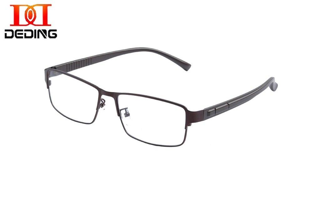 Большие металлические очки большого размера, мужские Модные супербольшие оптические очки, полуоправа, деловая оправа большого размера d ...