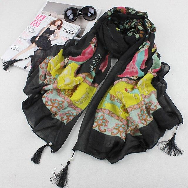New fashion burb Grid trench plaid Brand Silk men chiffon seda print ring shawl Long Scarves women