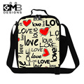 Pretty artistic thermal lunch bag for women lovely lunch box bag with strap for girls small lunch container art lunch cooler bag