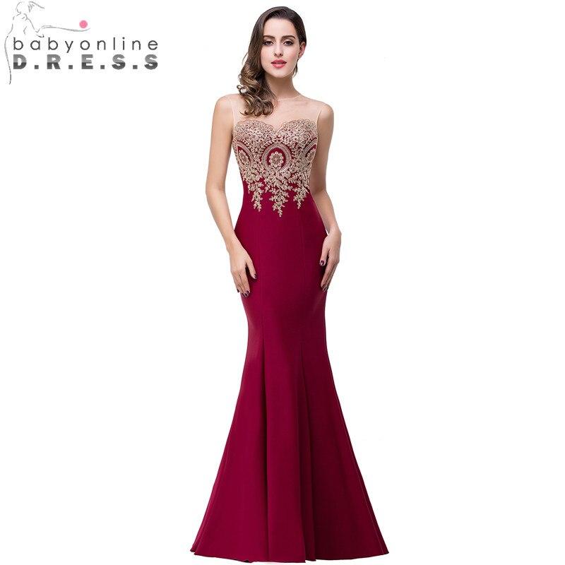 34 Colors Custom Make Mermaid Lace Evening Dress Long Cheap ...