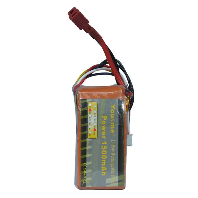 You & me 4S TRX-450L Lipo bateria 1500 MAH 22.2 V 25C RC Lipo bateria para o Barco DO RC Helicóptero