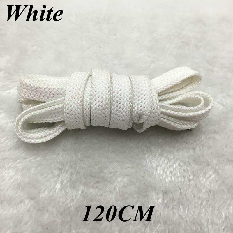 1 Pairs Metal Payetli Ayakabı Tüm Ayakkabı Için Sneaker Ayakkabı danteller Moda Düz Ayakkabı Bağı 120 CM Strings JS1