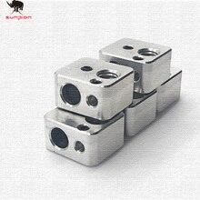 Premium Quality Aluminium V6 Heat Block ForV5 V6 J-head Extruder HotEnd 3d Printer Parts Heater Hot End Heating Accessories 5pcs