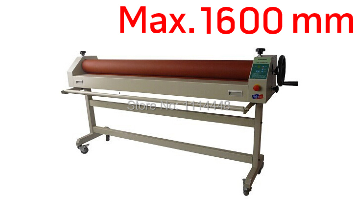 Manual Electronic Cold Laminator with stand Cold Roll Laminating Machine Max. 1600mm fm 360 paper laminating machine students card worker card office file laminator steel roll laminating machine