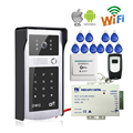 Free Shipping New Wifi Video Door Phone Intercom Metal Outdoor Doorbell with Touch RFID Code Keypad Access for Phone + Remote