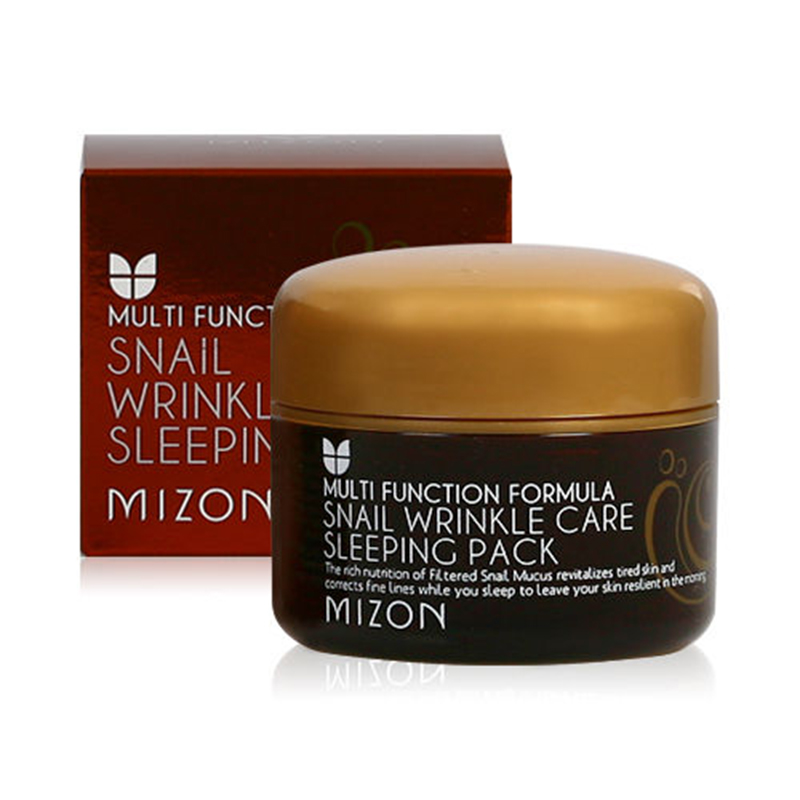 MIZON Snail Wrinkle Care Sleeping Pack 80ml Face Mask Moisturizing Firming Regeneration Skin Care Rich nourishing Sleep Mask spc snail secretion face mask value pack 50 sheets