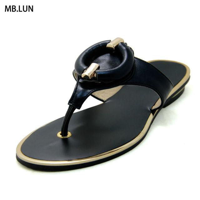 55a04880915128 Flip Flops Women Sandals Flat Slippers Wedges Ladies Sandals Women Summer  Shoes Woman Designer 2016 Black Gold Sandals Big Size
