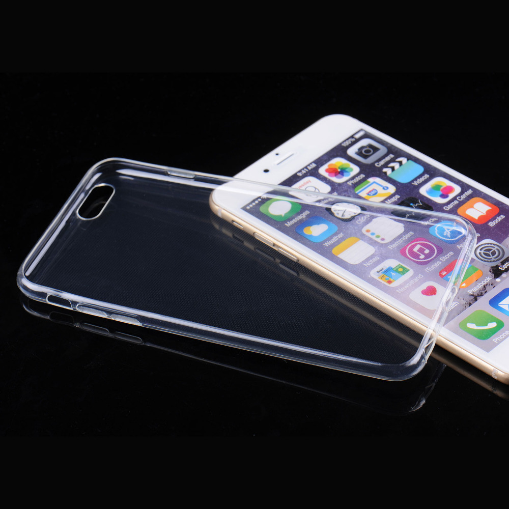 Luxury Ultra Thin Clear Crystal Silicone Case For iPhone 4 4s 5 5s 6 6Plus Soft  TPU Back Cover Case Phone Bag For iPhone 50ce6c379e