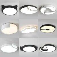 Светодио дный современные светодиодные акриловые потолочные светильники для дома светильники для гостиной Потолочные светильники для дет