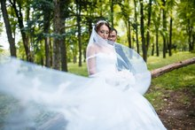 Tulle Long Cathedral Wedding Veil