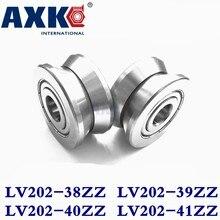 Axk ranura en V de rodamientos de rodillos guía de Lv202-38zz Lv202-39zz Lv202/40 Zz Lv202-41zz Abec-5 pasar a través de 10mm/20mm cilindro Id 15 Mm