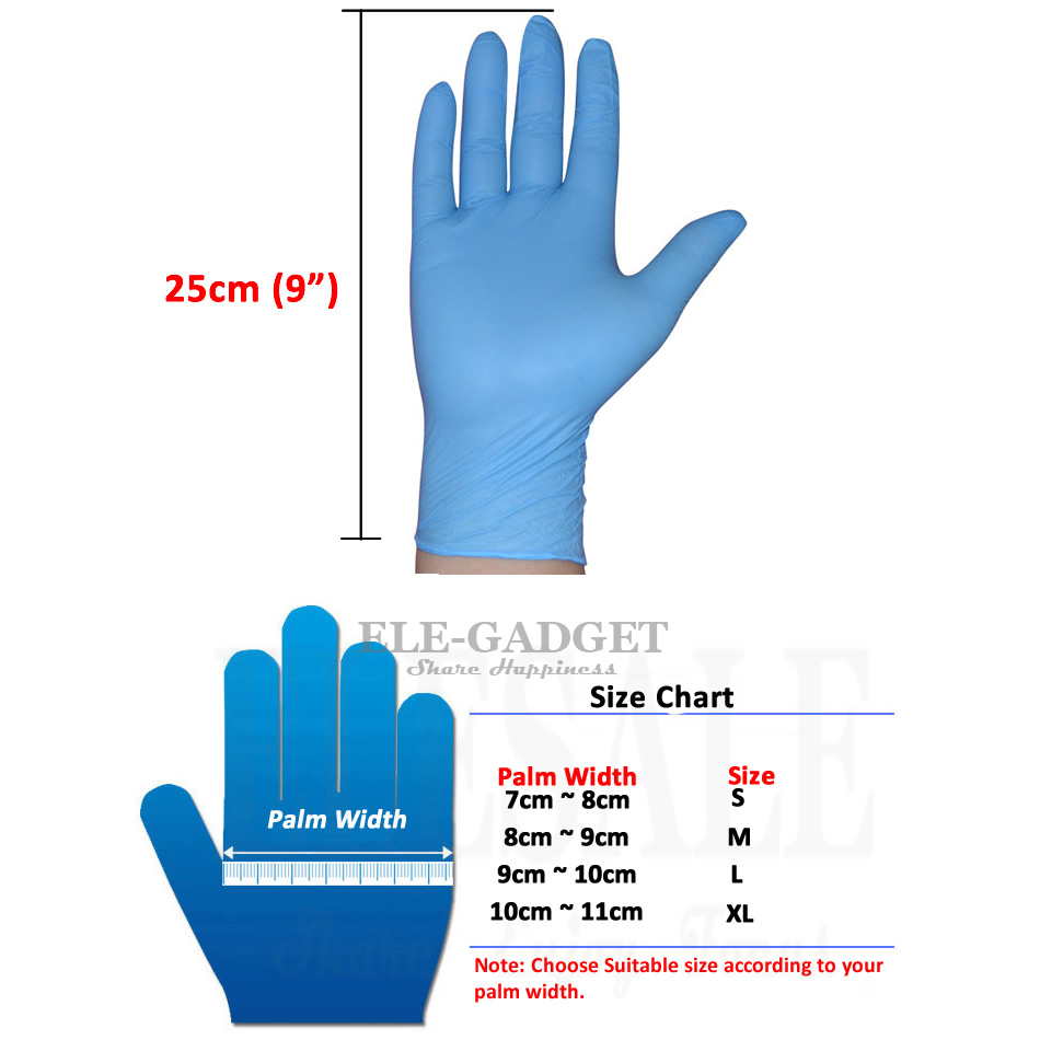 Image 2 - 100pcs/pack Blue Disposable Nitrile Gloves Oil Proof Exam Work Gloves Ambidextrous For House Tattoo Hands Protectiondisposable nitrile glovesnitrile gloveswork gloves -