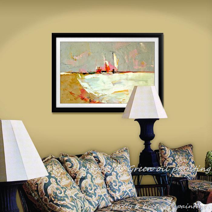 Free Shipping !No Framed!100% Handpainted Modern Abstract Seascape ...
