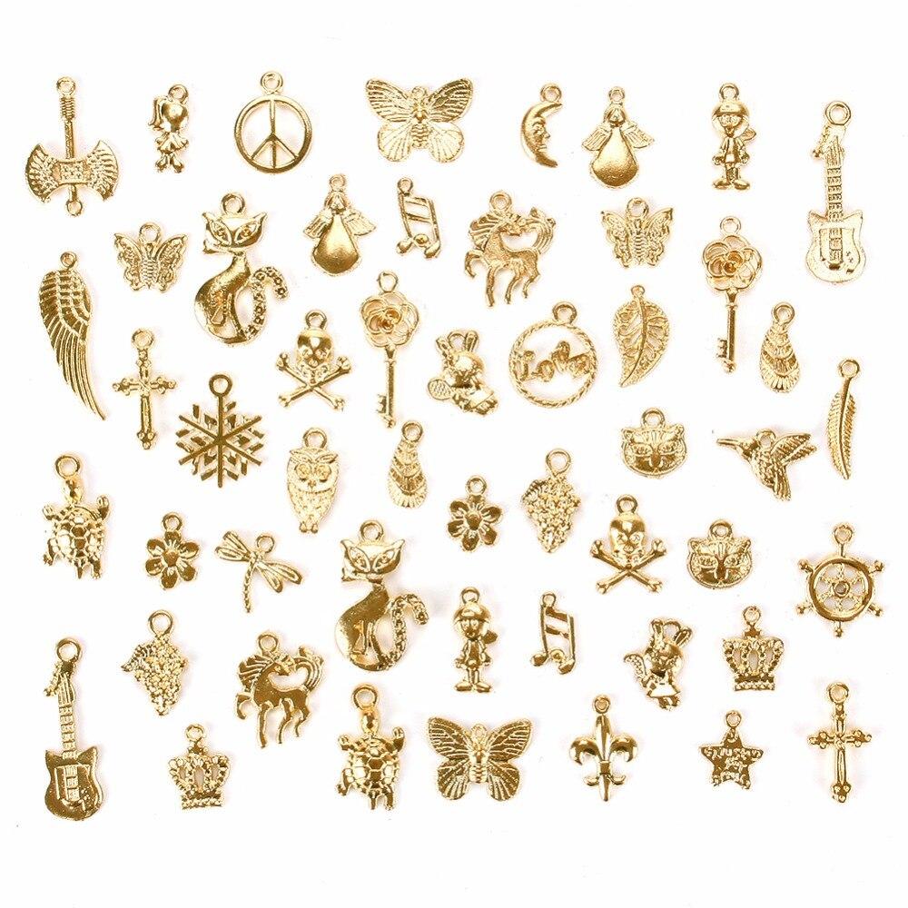 20pc Tibetan Silver Charm Pendant Small Fox Animal Accessories Wholesale N414
