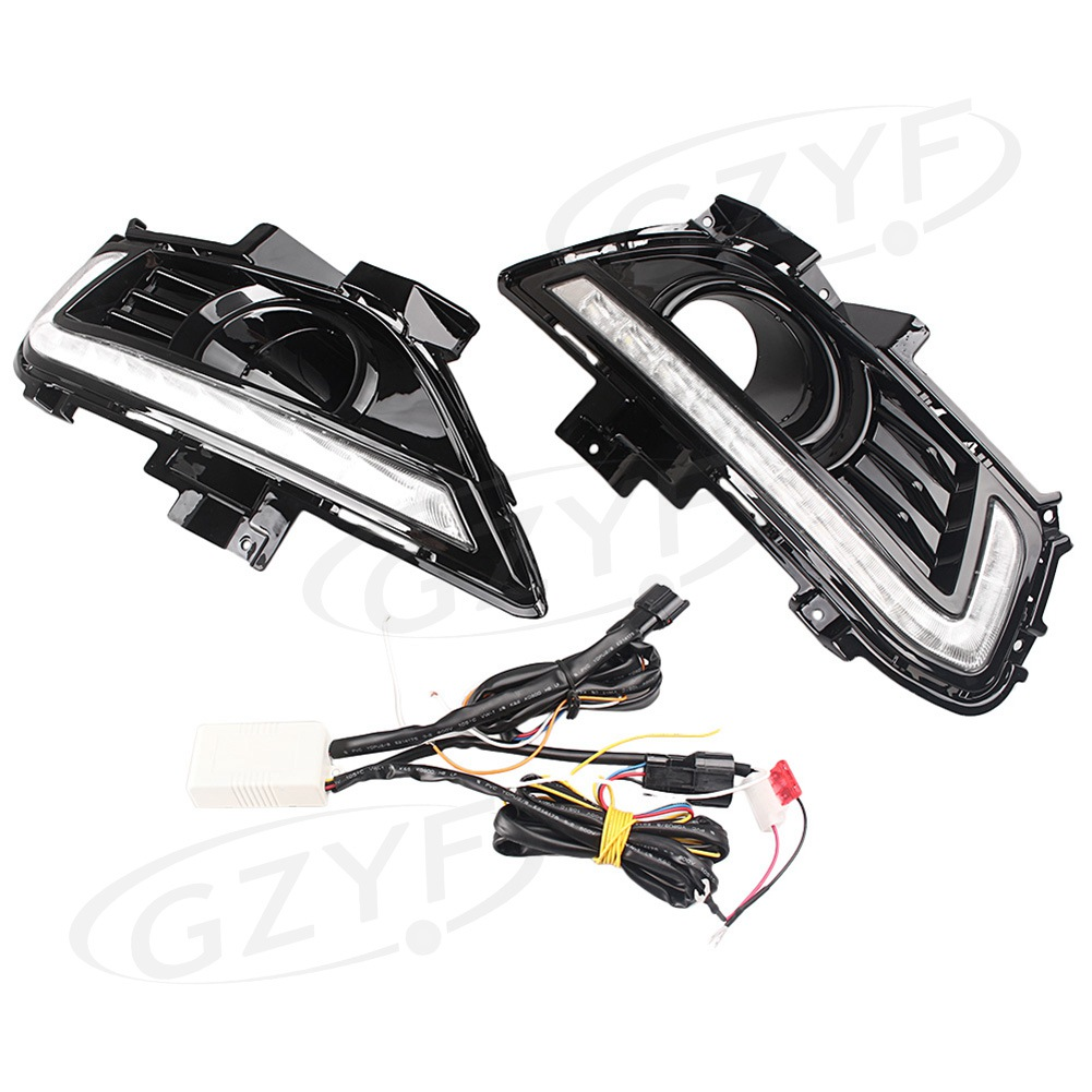 For Ford Fusion Mondeo LED Daytime Running Light Turn Signal Light Lamp Assembly 2013-2015 Pair tcart drl headlights with turn signal lights for ford mondeo 2013 2016 daytime running light auto led day driving fog lamp