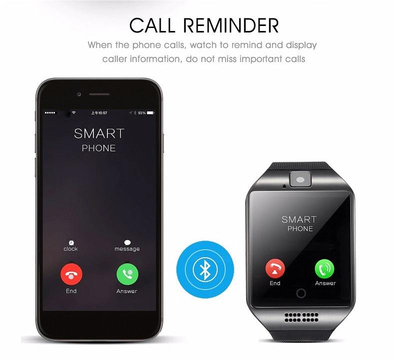 Q18 Fashion Bluetooth Smart Watch Աջակցություն SIM - Կանացի ժամացույցներ - Լուսանկար 4