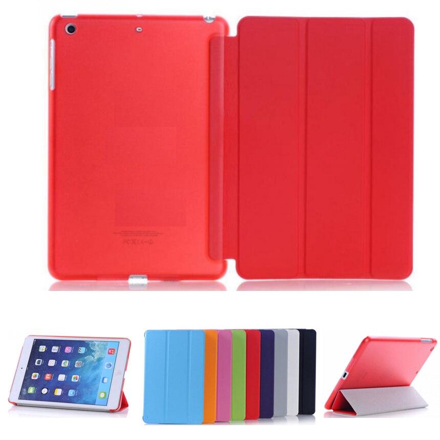 Ultra-fino fino caso da tabuleta para ipad mini caso flip magnética dobrável pvc a1432 a1490 capa para ipad mini 2 mini 3 caso inteligente
