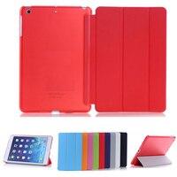 Ultra-delgada Slim Tablet caso iPad mini caso Flip magnético plegable de PVC A1432 A1490 cubierta de cuero para iPad mini 2 mini 3 Caso
