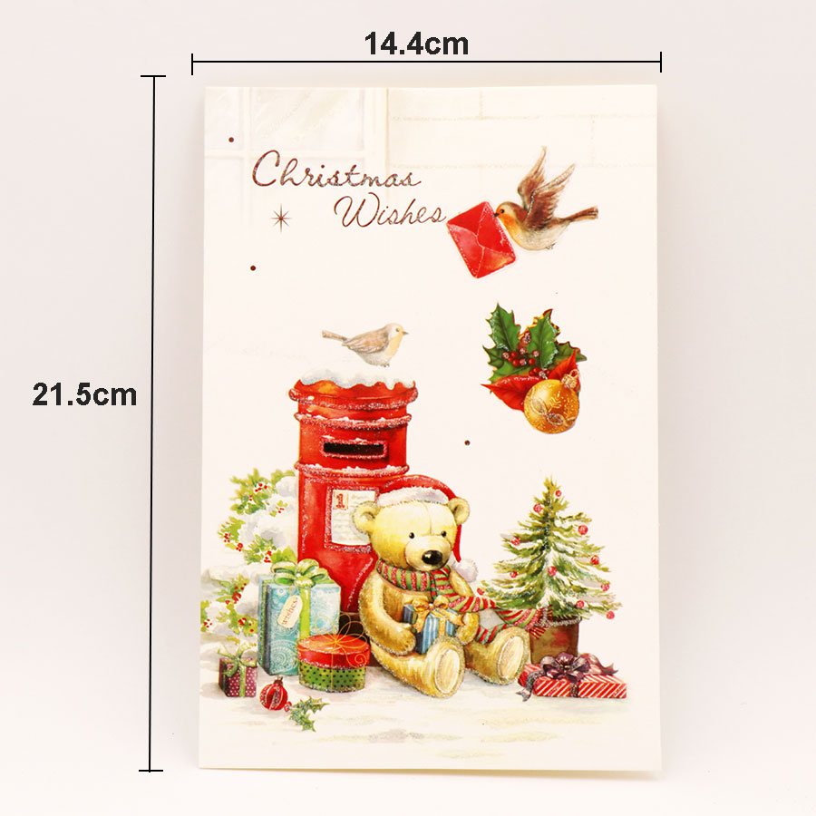 8pcsset Cartoon Deer Christmas Greeting Card Kids Birthday Greeting