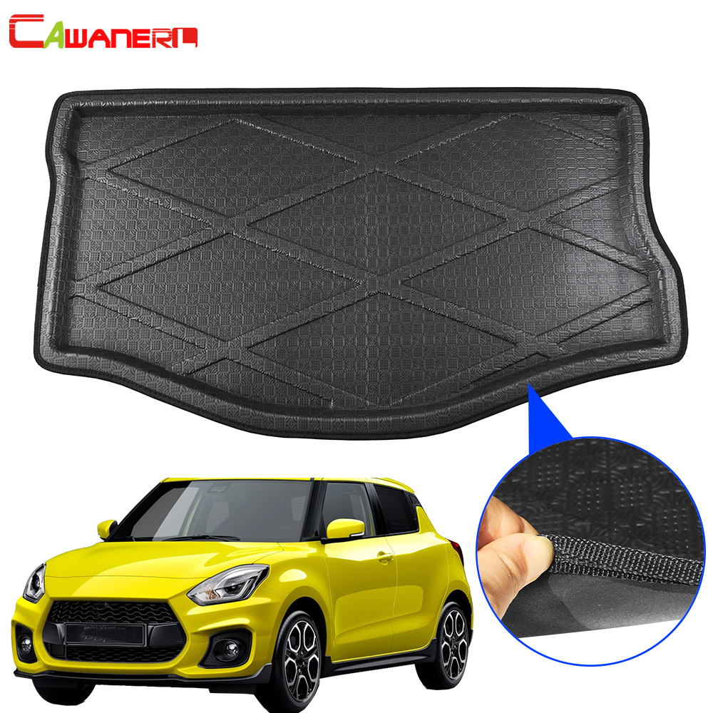 Cawanerl Car Rear Trunk Mat Floor Boot Tray Liner Luggage Mud Carpet Cargo Pad Accessories For Suzuki Swift 2010-2018Cawanerl Car Rear Trunk Mat Floor Boot Tray Liner Luggage Mud Carpet Cargo Pad Accessories For Suzuki Swift 2010-2018