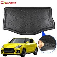 Cawanerl Автомобильный задний коврик для багажника, поднос для напольных ботинок, поднос для багажа, грязевой коврик, аксессуары для Suzuki Swift ...