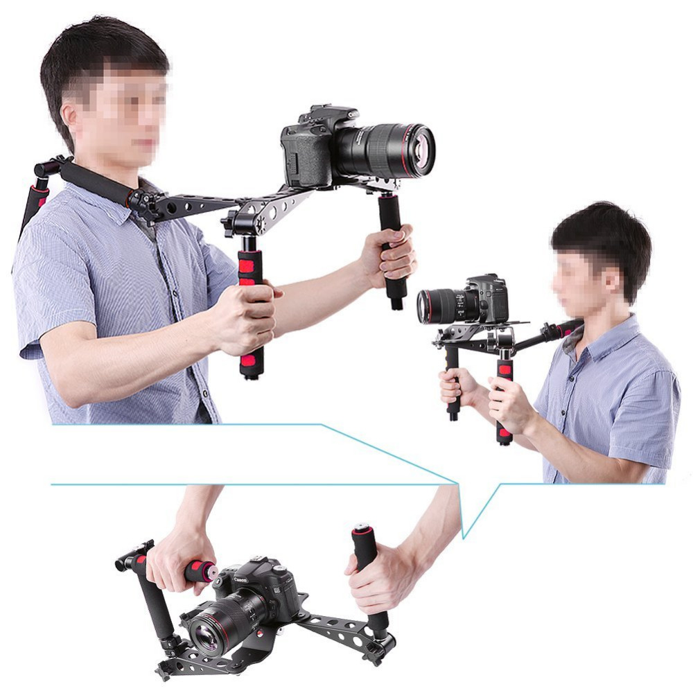 NEEWER DSLR RIG MOVIE KIT SHOULDER MOUNT (RED/Orange/Blue) for Digital SLR Camera and Camcorder such as Canon rel t9i piano black