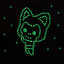 100pcs 3D Stars Glow In Dark Luminous Fluorescent Plastic Wall Sticker