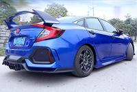 Auto Racing Car Styling Side Skirts Bodykit Bumper Side Skirt Cover Fits For Honda Civic 2016 2017 2018 2019