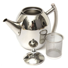 1L Stainless Steel Teapot Coffee Tea Cold Infuser Kettle With Mesh Filter Strainer Practical Kitchen Tea Tools