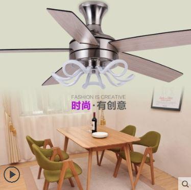 Modern fashion ceiling ceiling lamp light simple living room restaurant study bar counter LED ceiling fan light