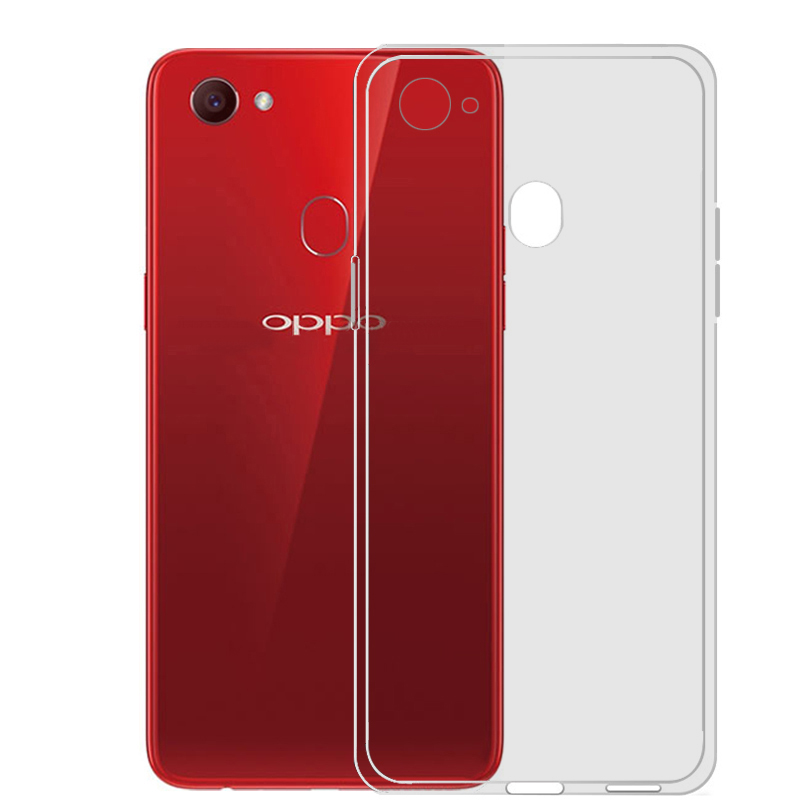 Для OPPO F7 чехол тонкий прозрачный мягкий ТПУ силиконовый чехол 6,23 дюймов ультра тонкая резиновая мобильного телефона защитная пленка основа