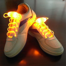 New Multi-Color Cool Night Run Neon LED Shoe laces Shoes Strap Glow Stick Light Shoelaces Accessories Party Supplies