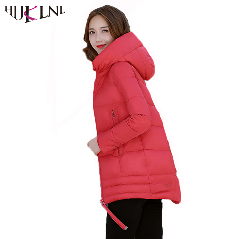 HIJKLNL Women Winter Coats and Jackets Casual Hooded Slim Fit Overcoat 2017 New Femme Cotton Padded