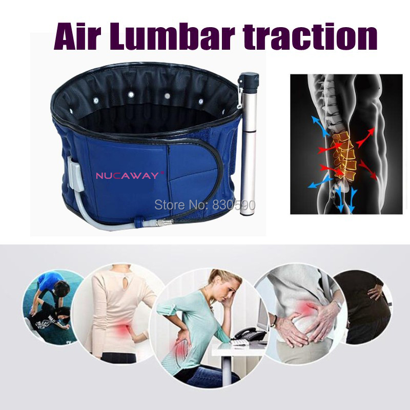 Body Relaxation Massager Back Belt Spinal Air Traction Physio Decompression Back Brace Back Pain Lower Lumbar