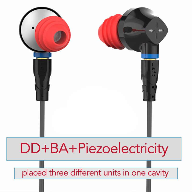 SENFER DT6 In Ear Earphone Earburd 1BA+1DD Dynamic Driver Unit HIFI Earplug With MMCX Detachable Detach Cable Metal Earbud
