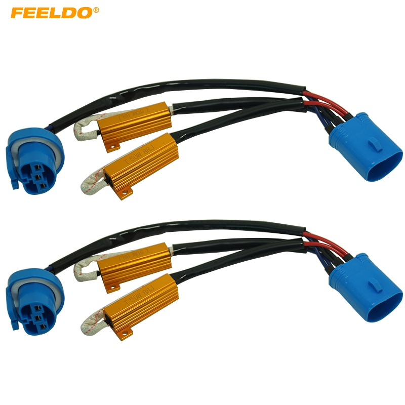FEELDO 6Pcs 9007 HID Conversion Kit Error Free Load Resistors Wiring on h11 relay harness, 2001 mustang fog light wire harness, hid headlights, hid relay, hid lights, hid connectors, hid kit wiring, hid controller, h4 conversion harness, 2001 chevy silverado headlight wire harness, hid wiring to a 02 impala,