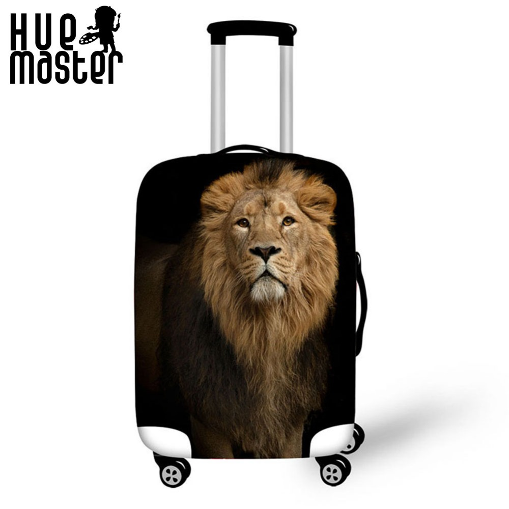 traveler accessories elasticity durable suitcase cover scratch proof waterproof suitcase cover lion pattern exterior design case stylish plastic material back case cover with 3d vary picture design skull man pattern
