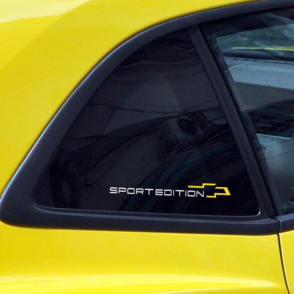 2Pcs Car Styling Side Window Body Sticker Decal Sport Edition For Chevrolet Cruze Captiva Lacetti Aveo Orlando Trax Epica Camaro maserati granturismo carbon spoiler