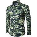 Камуфляж стиль 2016 мужские рубашки поло случайные поло одежда фитнес топы тис рубашки моды