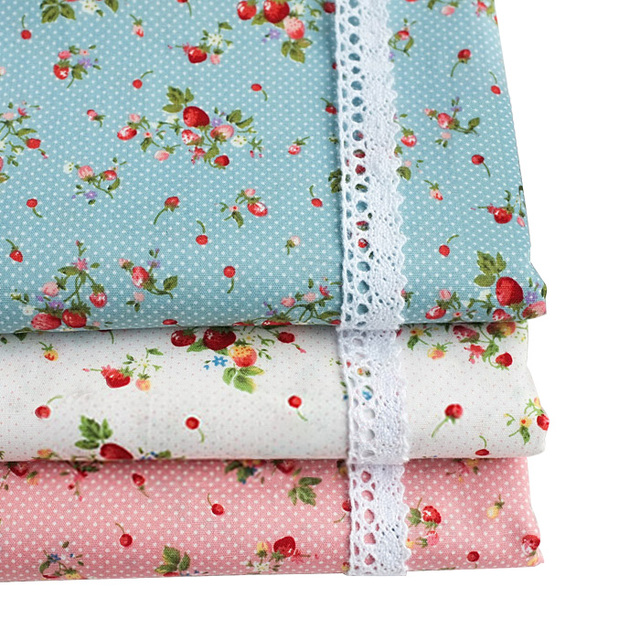 Strawberry cherry mini polka dot 100% cotton spring and summer clothes diy fabric handmade cotton fabrics printed